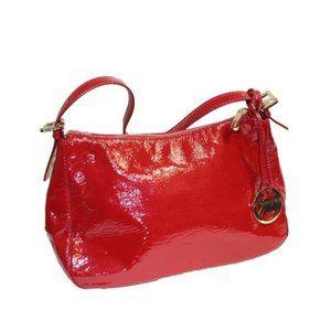 Michael Kors Red Patent Leather Shoulder Bag Purse